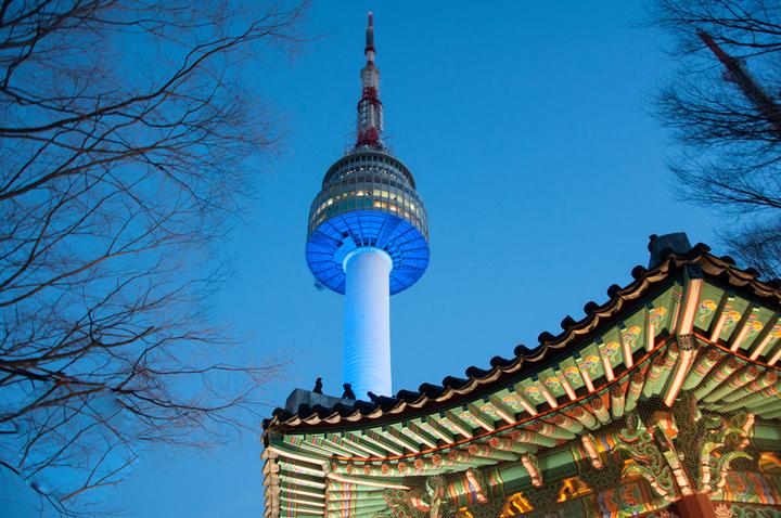 Tháp truyền hình N Seoul Tower Namsan