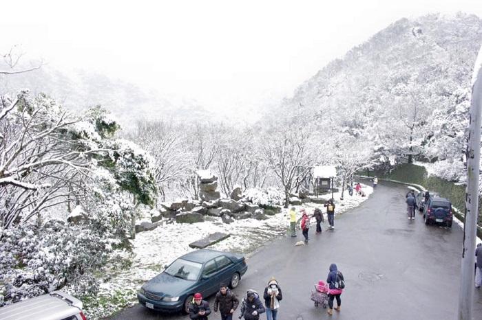 Tuyết rơi mùa đông ở Đài Loan