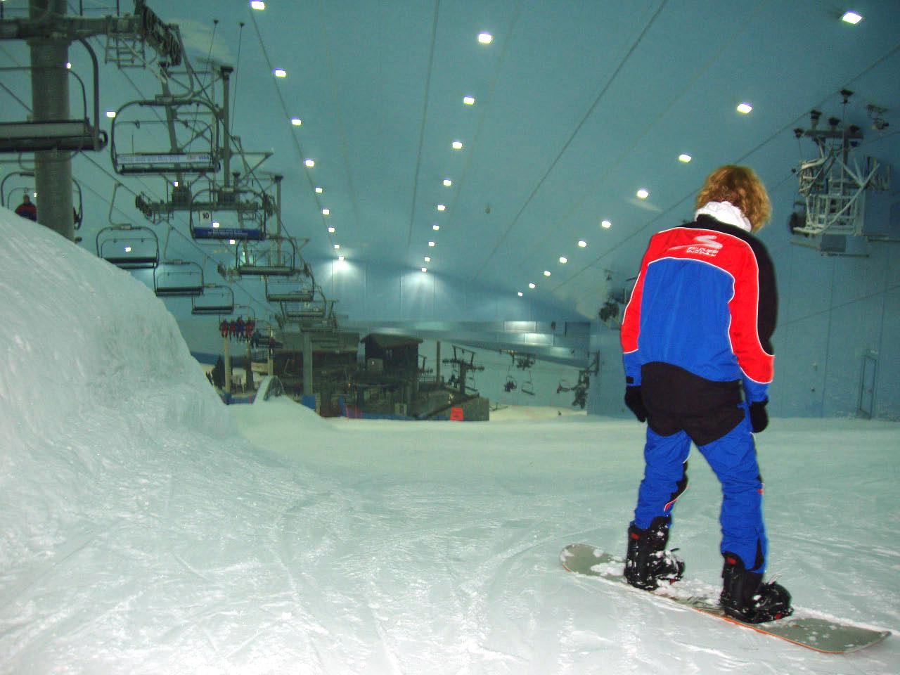 Snowboarding dubai