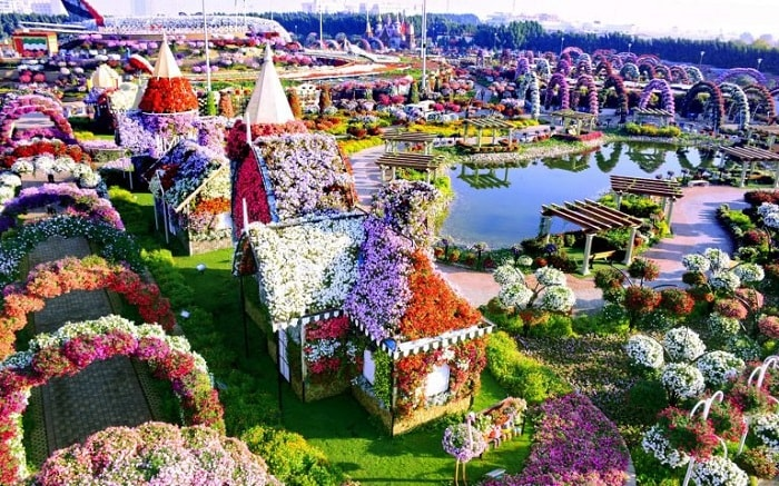 Vườn hoa diệu kỳ ở Dubai