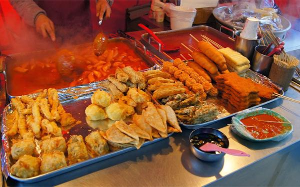 Những con phố ẩm thực nổi tiếng ở Hàn Quốc
