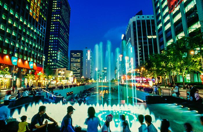 Thủ đô Seoul, Hàn Quốc về đêm