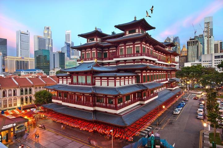 Chùa Phật Nha, Chinatown