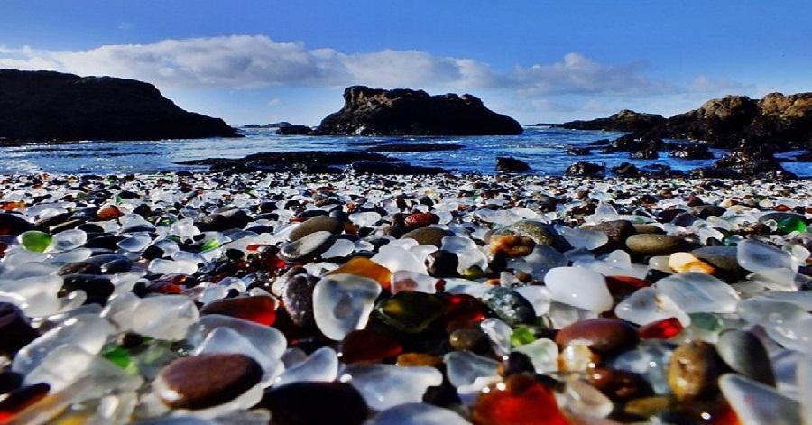 bãi biển thủy tinh