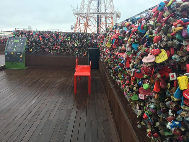 Ổ khóa tình yêu ở Namsan