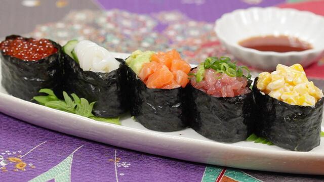Món Gunkanmaki Sushi hấp dẫn