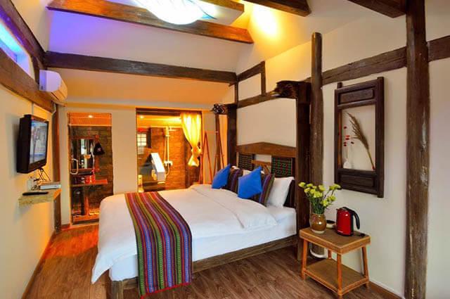 Du khách trong tour du lịch shangrila sẽ cảm thấy thoải mái và tiện nghi khi ở tại Leaf and Rain Garden Inn