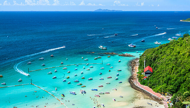 Hòn đảo san hô Coral nổi tiếng ở Pattaya