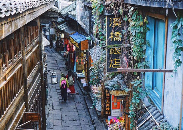 ngôi làng Phượng Hoàng cổ trấn