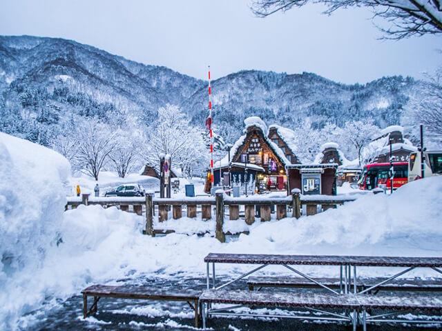 Vẻ đẹp mùa đông của làng Shirakawago