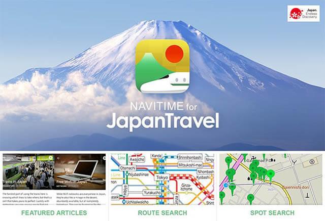 Tải Navitime App cho tour du lịch Nhật Bản
