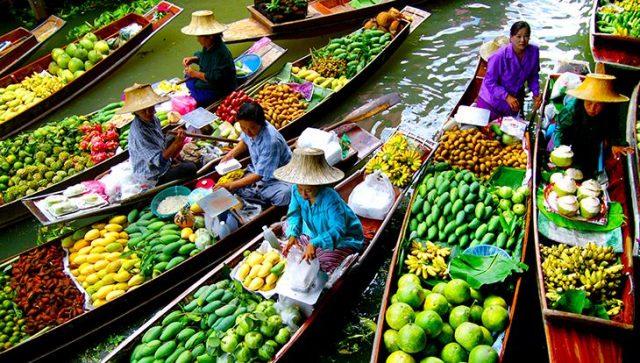 Du lịch Thái Lan tham quan chợ nổi Amphawa, Bangkok nhộn nhịp, tấp nập