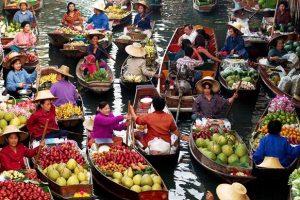 Khám phá chợ nổi Damnoen Saduak trong tour du lịch Thái Lan giá rẻ