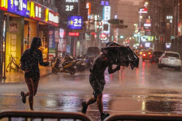 Mùa hè đến Đài Loan thường xuyên xuất hiện các cơn mưa vào buổi chiều