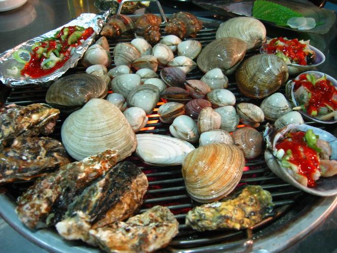 Hải sản nướng Jogae Gui Hàn Quốc