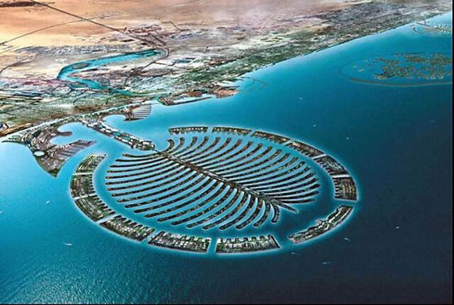 Quần đảo nhân tạo Palm Jumeirah lớn nhất thế giới được tạo từ 94 triệu khối cát biển