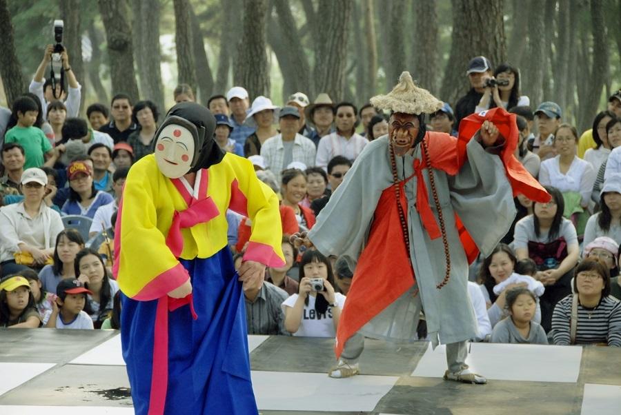 lễ hội múa mặt nạ quốc tế Andong