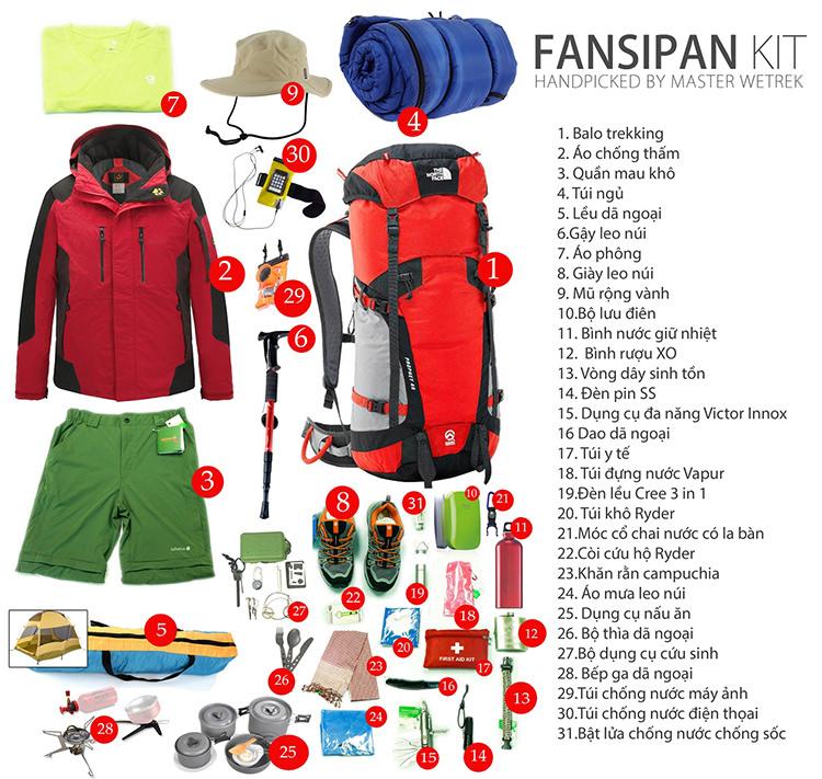 Những đồ dùng cần thiết phải mang theo khi đi leo núi Fansipan