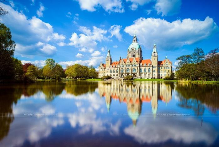 Tòa thị chính Hannover mùa xuân