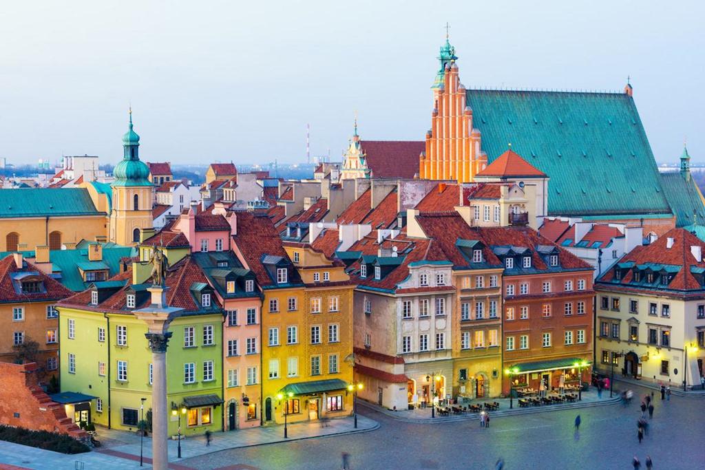 Thủ đô Warsaw ở Ba Lan