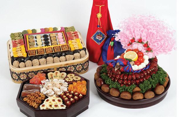 Các món ăn trong lễ Pyebaek ở Hàn Quốc