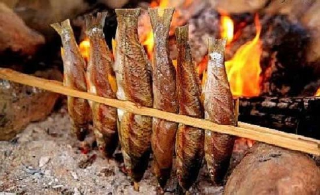 Cá suối nướng Sapa