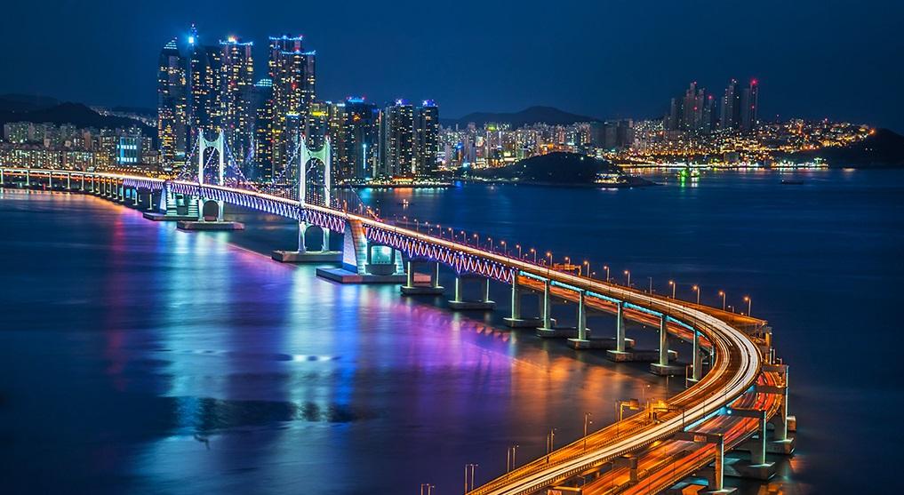 Thành phố Busan về đêm