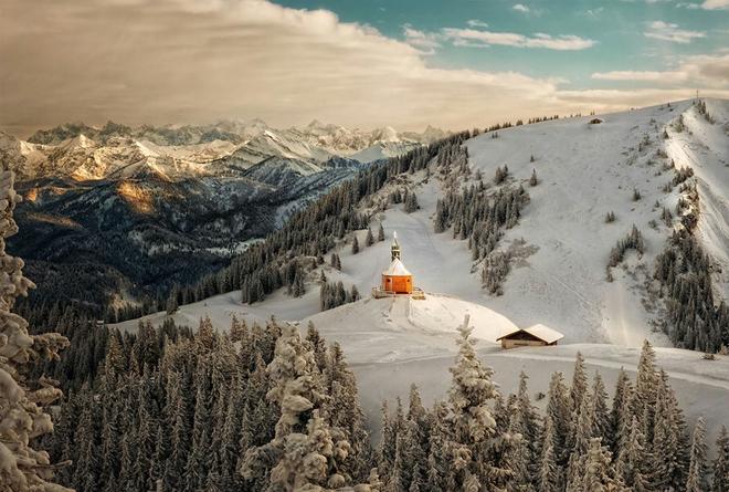 Nước Đức lộng lẫy dưới màn tuyết phủ trắng xóa.