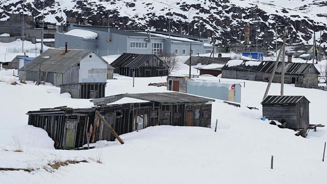 Những ngôi nhà ở làng Teriberka