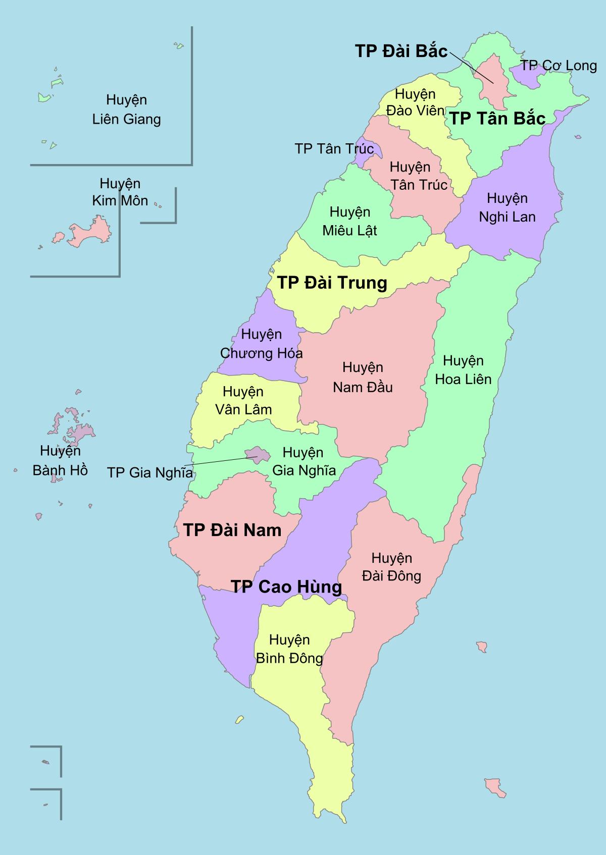 Bản đồ Đài Loan