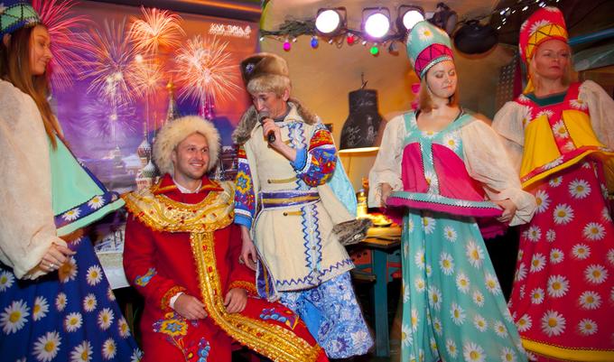hoạt động đón năm mới ở quán bar Purga ở Saint Petersburg nước Nga