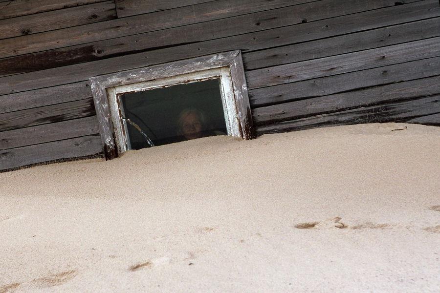 ngôi làng cát Shoyna ở Nga