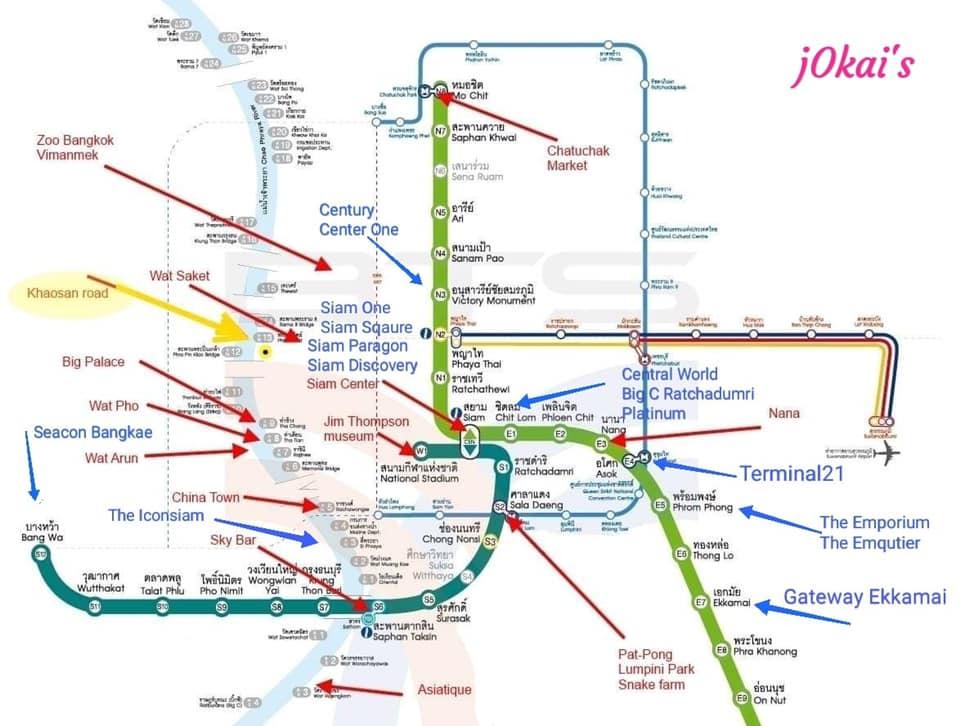 Bản đồ các tuyến BTS