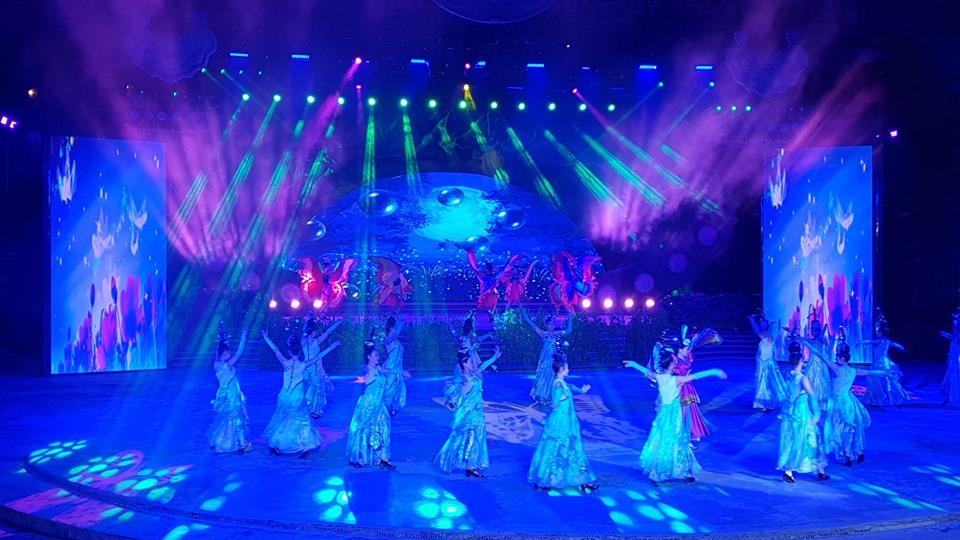 Xem show biểu diễn vào ban đêm tại sân khấu lớn