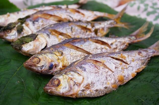 Món cá mòi nướng muối thơm ngon nhức nách