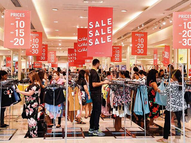 Các trung tâm thương mại ở Dubai thường đông nghẹt vào những ngày cuối tuần.
