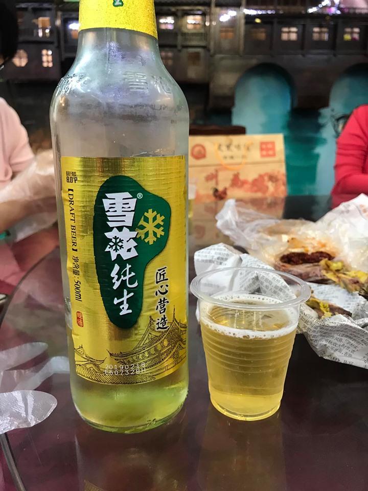 Bia 15 tệ ở Phượng Hoàng cổ trấn