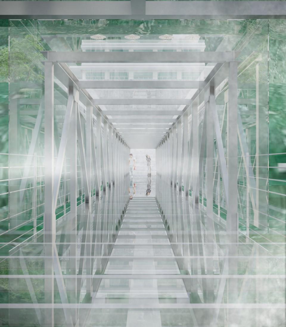 Mô hình cây Cầu kính Rồng Mây Sapa