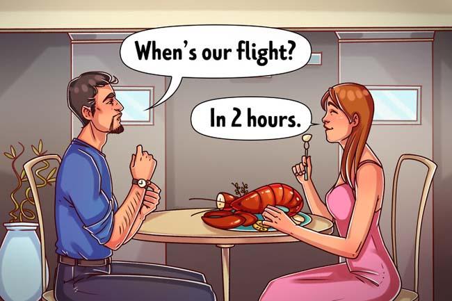 Thử các món ăn khác thường trước chuyến bay