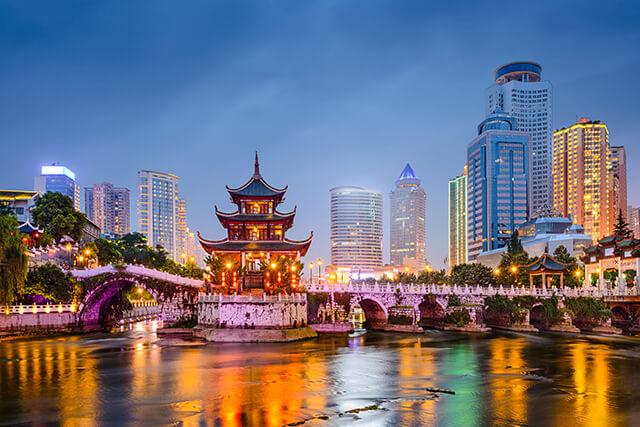 Các Văn Xương nằm trên trông Nam Ninh là một trong những biểu tượng văn hóa, giáo dục tiêu biểu của Quý Dương Quý Châu Trung Quốc