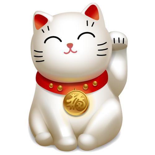 Trang trí hình tượng chú mèo Maneki Neko
