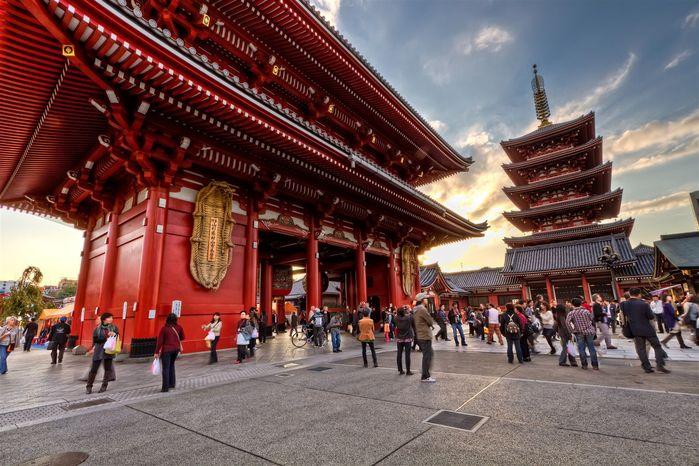 Ngôi chùa Asakusa Kannon linh thiêng
