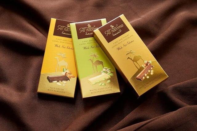 Socola sữa lạc đà vô cùng quen thuộc ở Dubai.