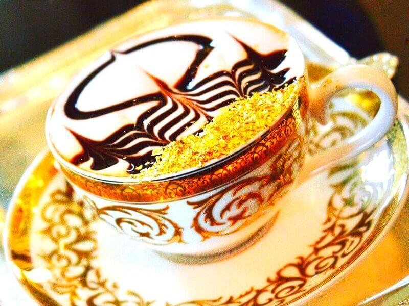 Cà phê phủ vàng Cappuccino, Dubai
