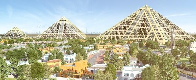 Công trình kiến trúc lớn Falconcity of Wonders ở Dubai.