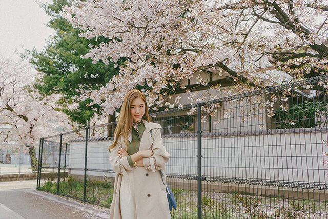 Trang phục du lịch Nhật Bản mùa hoa anh đào
