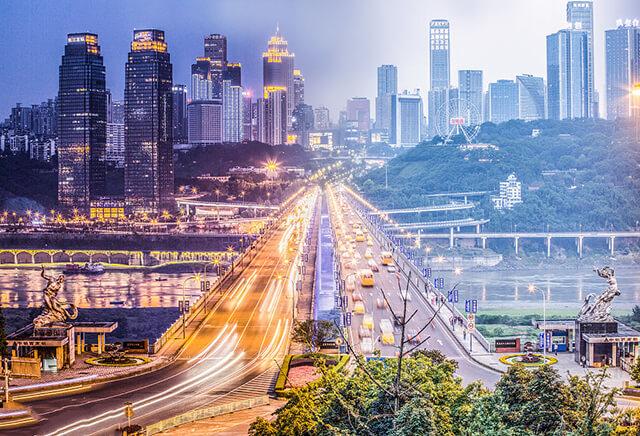 Ấn tượng khi đến Trùng Khánh là hình ảnh đường chồng đường, nhà chồng nhà