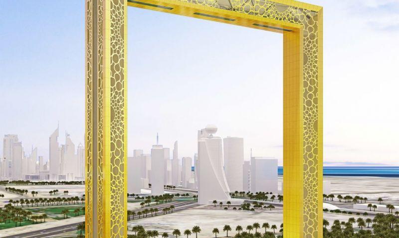 Khung ảnh mạ vàng Dubai