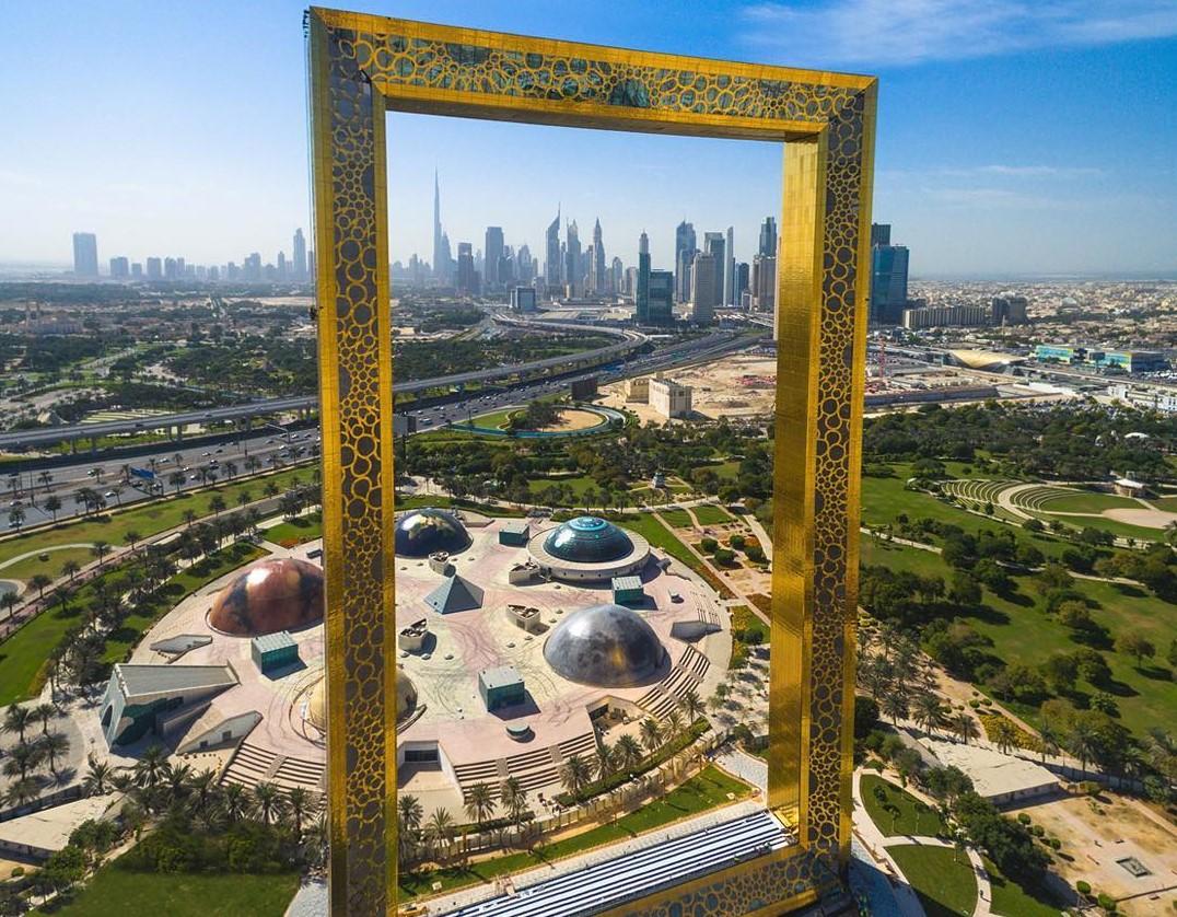 """""""Khung ảnh"""" mạ vàng Dubai"""