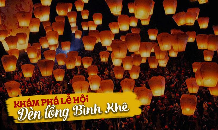 Lễ hội thả đèn trời ở Bình Khê